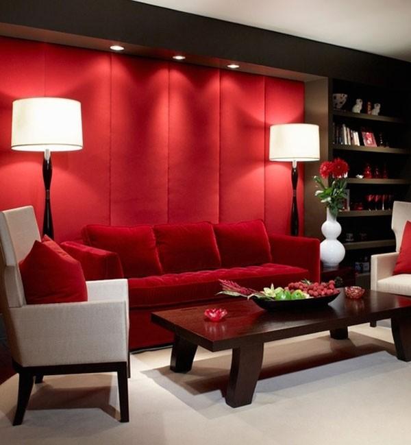 Стиль интерьера с красным цветом