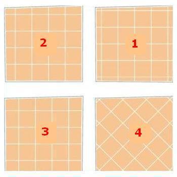 Схема 1.Все углы в комнате не