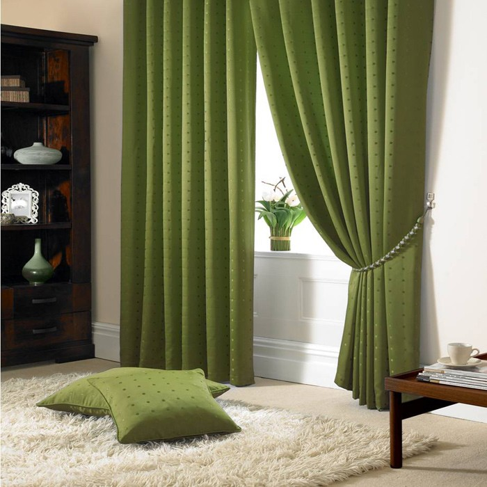 green-curtains-interior