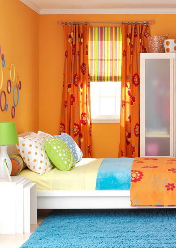 Дизайн детской комнаты в оранжевом цвете