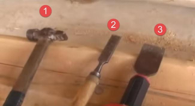 инструмент для конопатки сруба фото