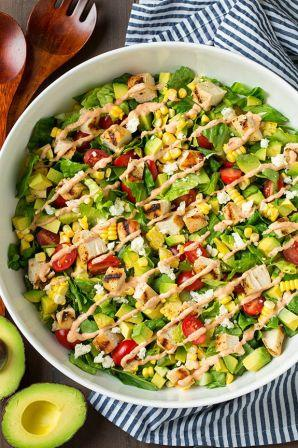 avocado and grilled chicken salad 2