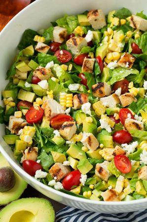 avocado and grilled chicken salad 3
